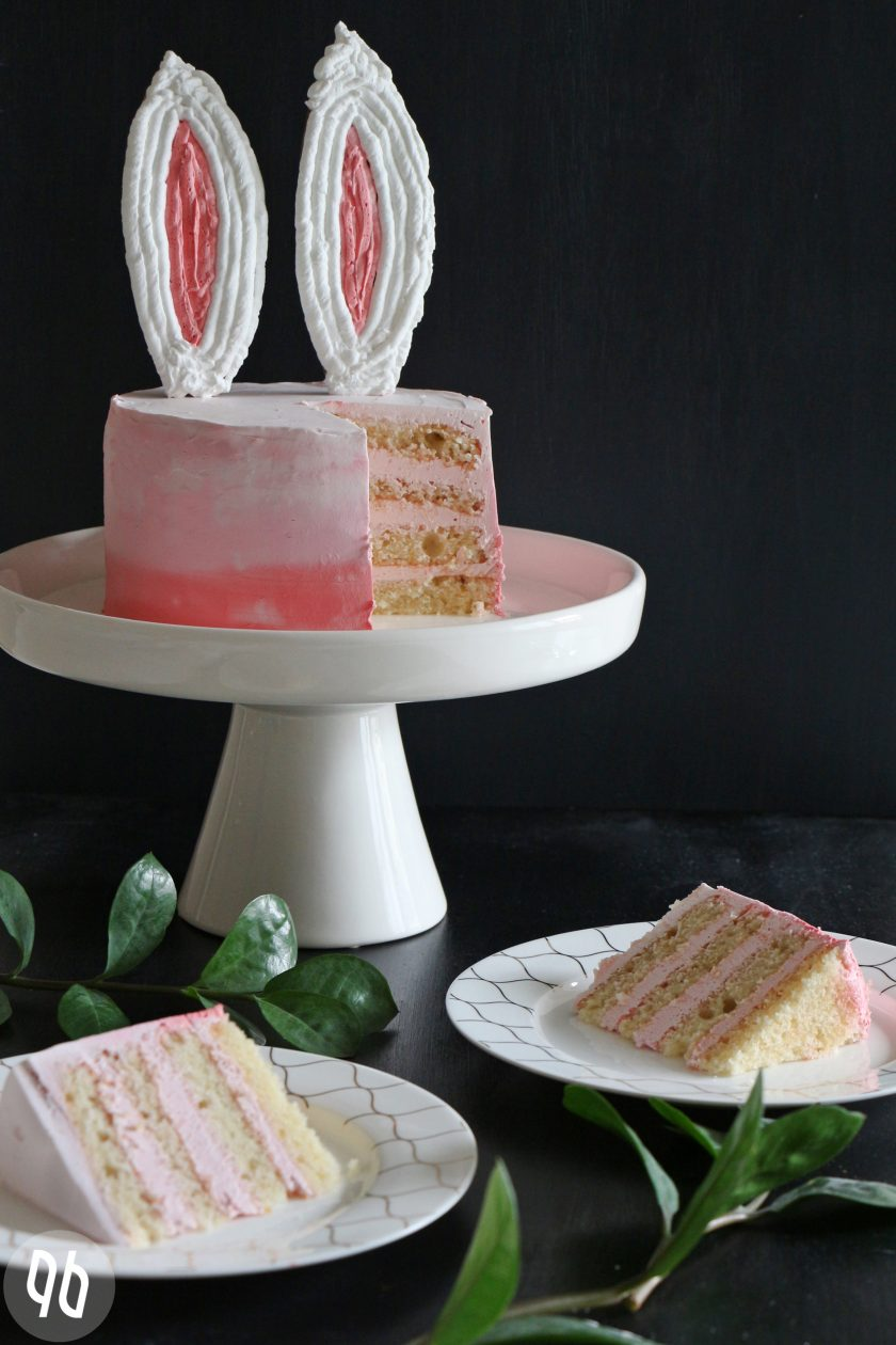 Ombre Bunny Cake