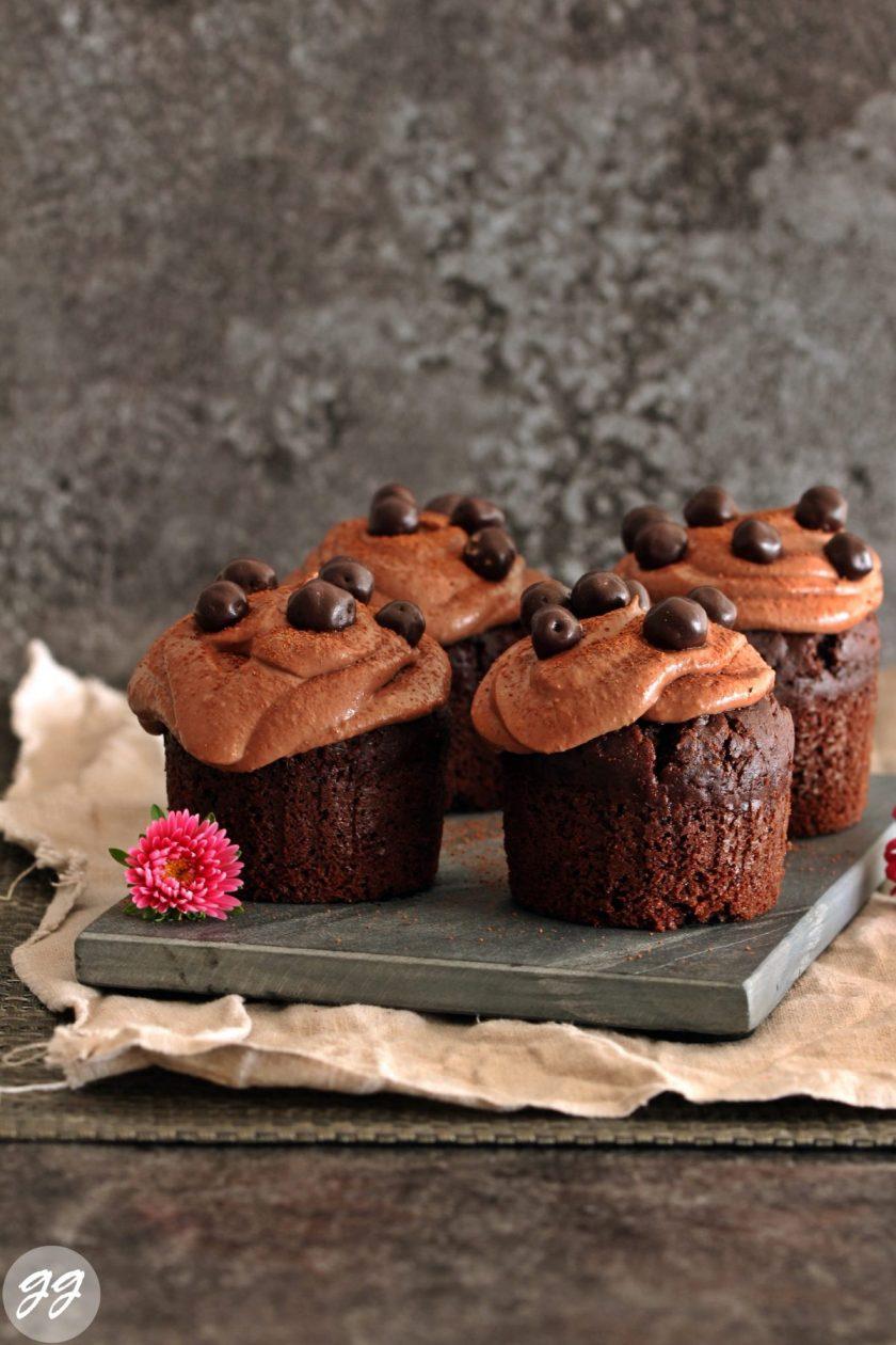Schokoladen-Joghurtcupcakes