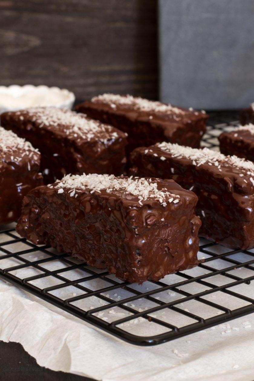 Rezept Bountykuchen mit Kokos & Schokolade Glücksgenuss