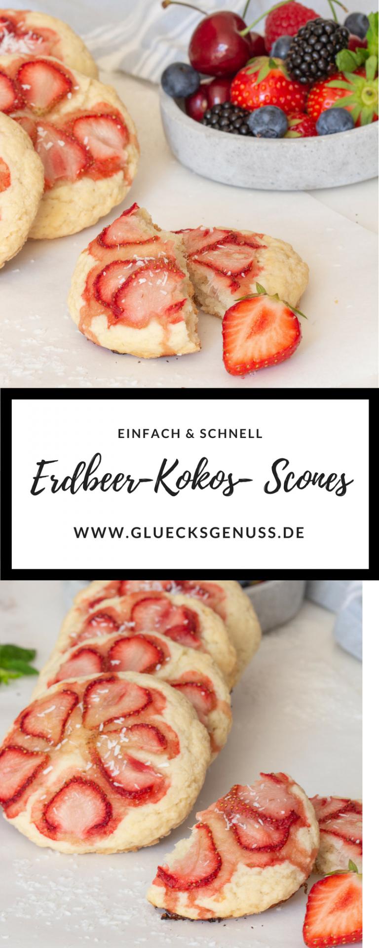 Erdbeer-Kokos-Scones