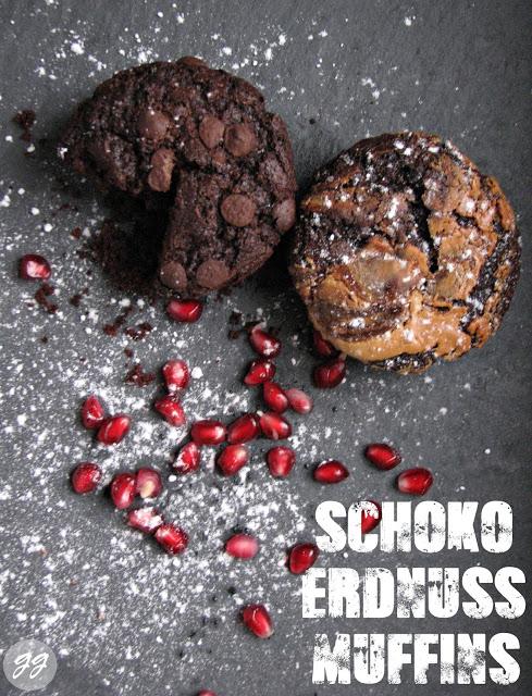 {Rezept} Fluffige Schokoladen & Erdnussbutter-Muffins