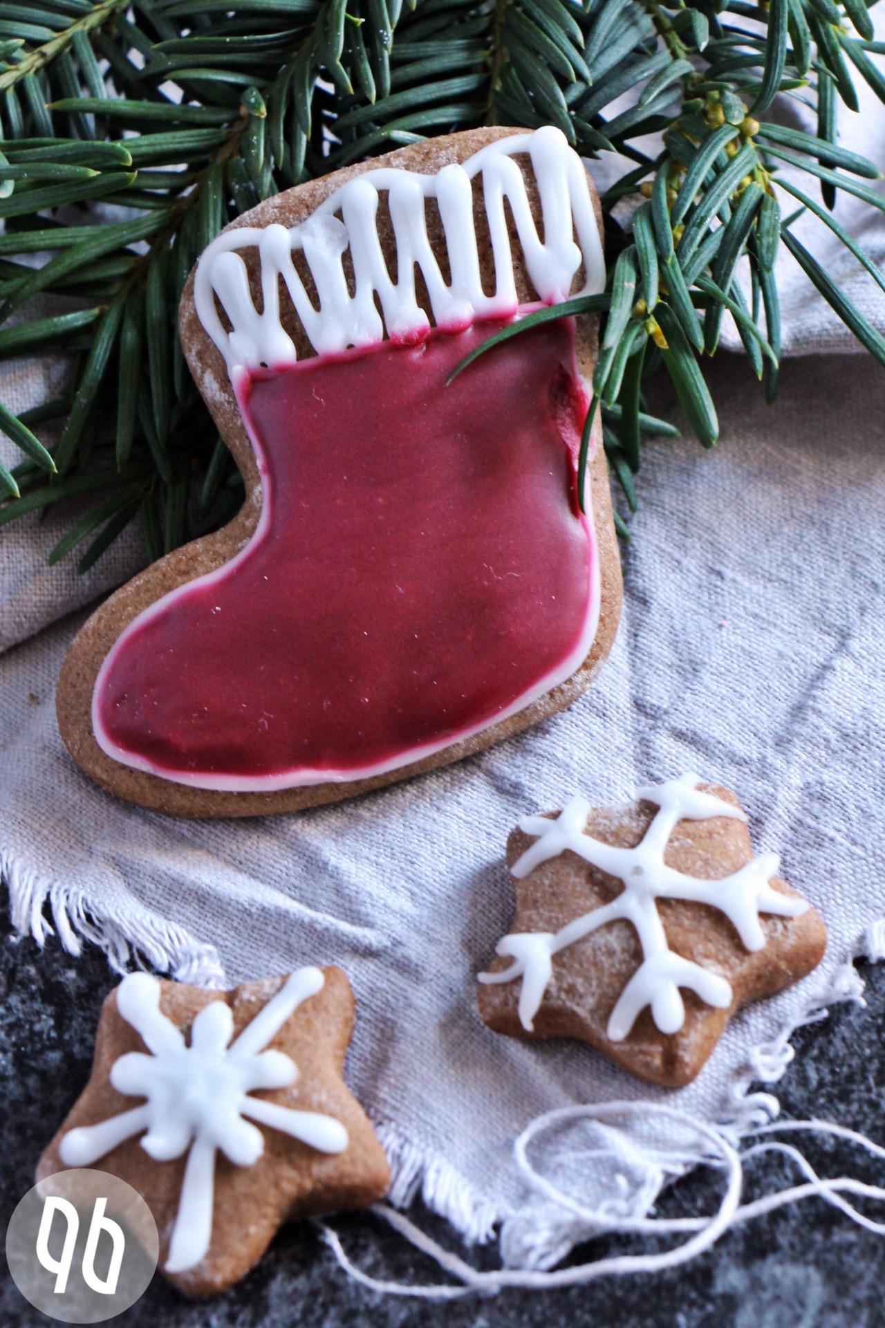 Würzige Pfefferkuchenstiefel für Nikolaus