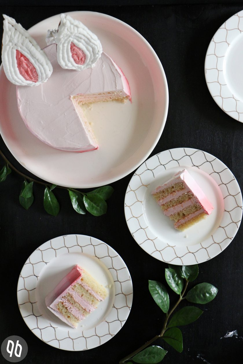 Ombre Bunny Cake