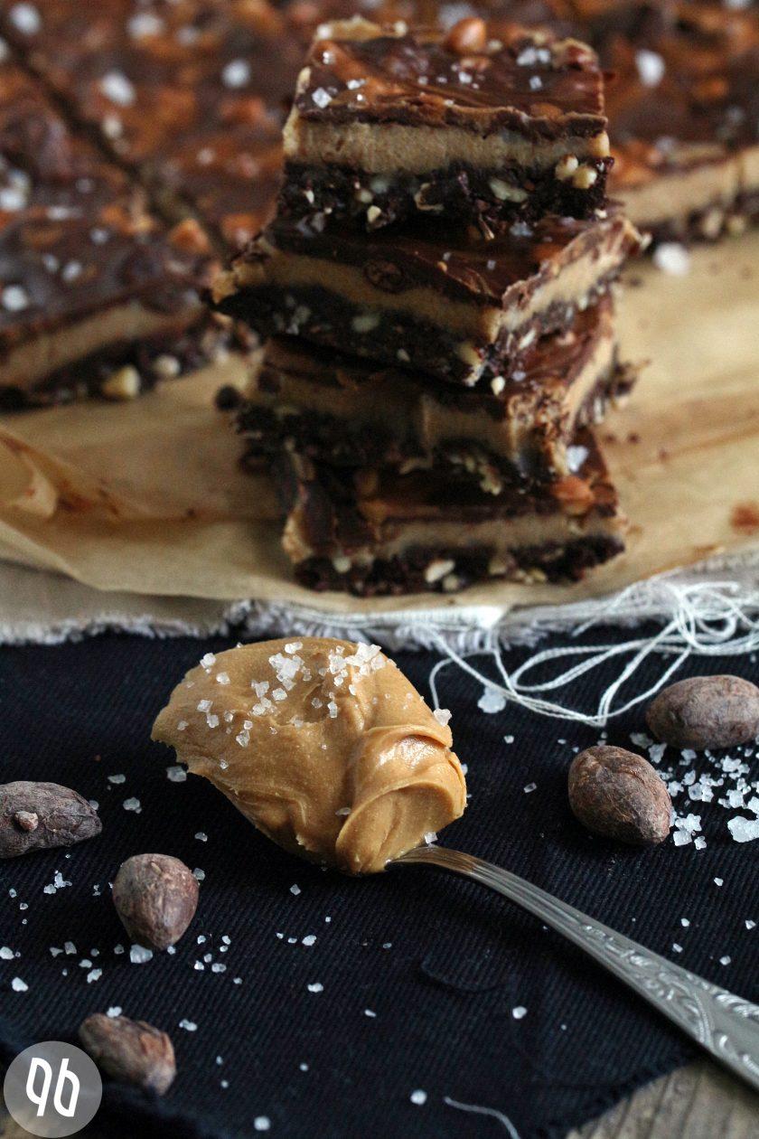 Schokoladen-Erdnussbutter-Slices