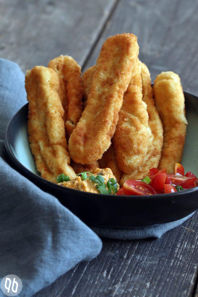 {Rezept} Vegane Mozzarellasticks