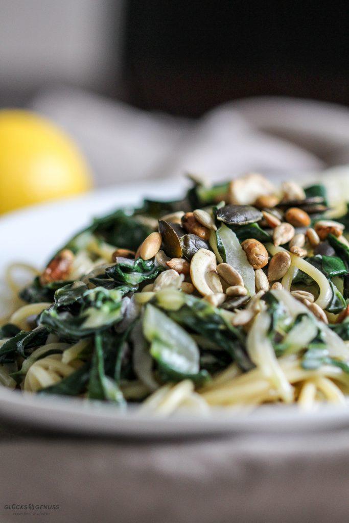 {Rezept} Pasta mit Mangold & Zitrone