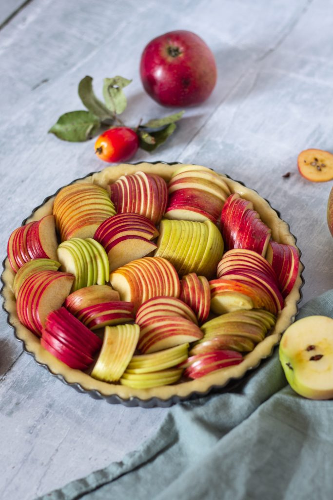 Vegane Apfel Tarte