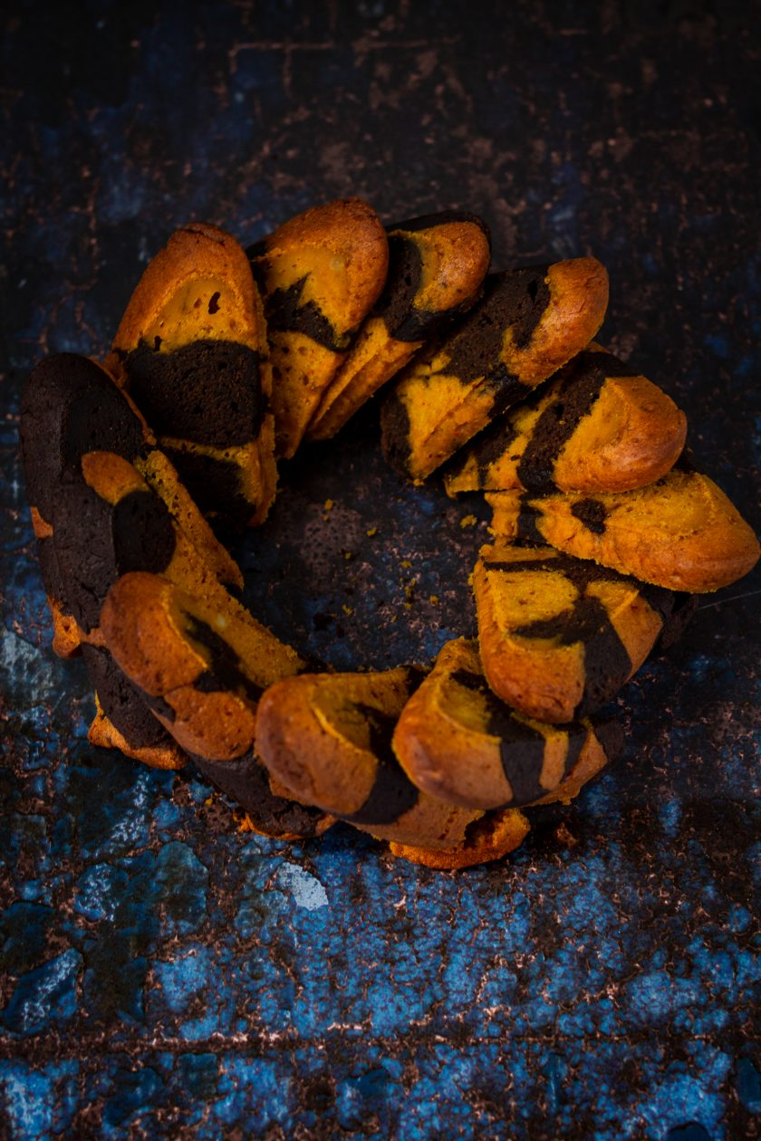 Veganer Kürbis-Marmorkuchen