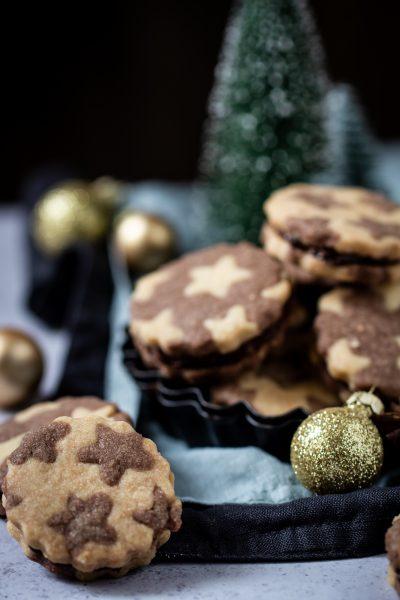 Weihnachtliche Schokoladensterneg