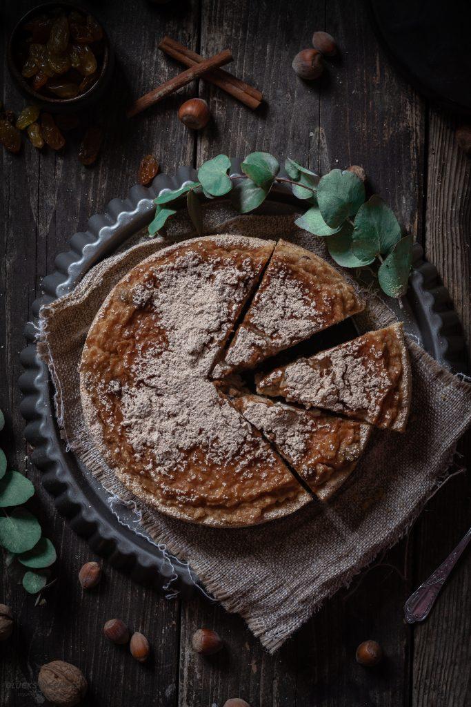 Veganer Apfelkuchen mit Marzipan