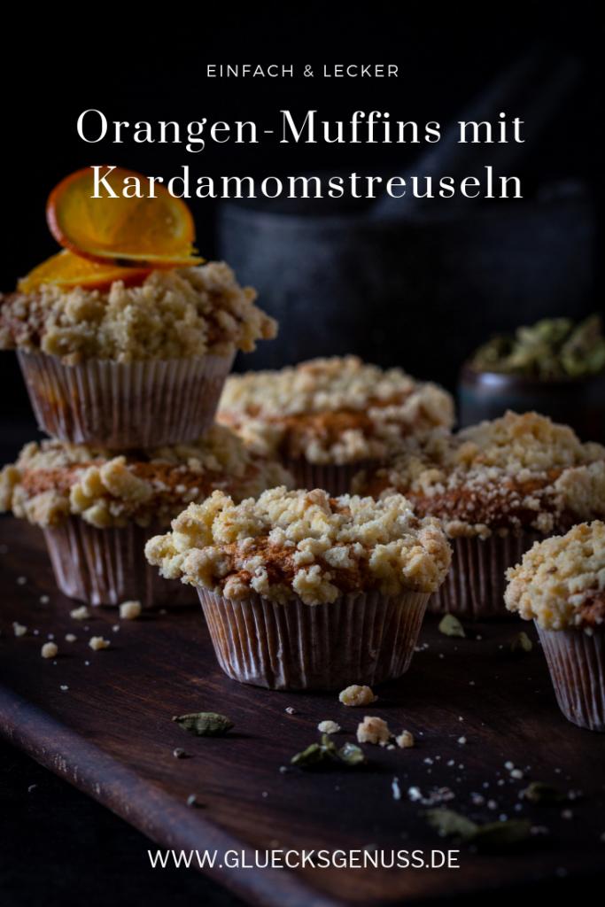 Orangenmuffins mit Kardamomstreuseln