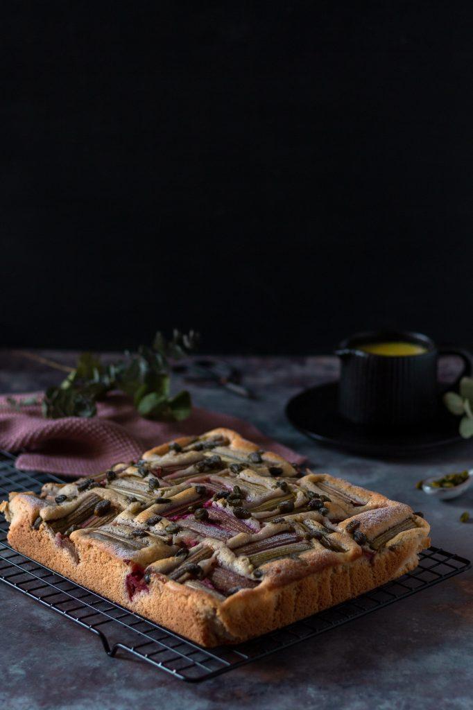 Einfach und schneller Rhabarberkuchen