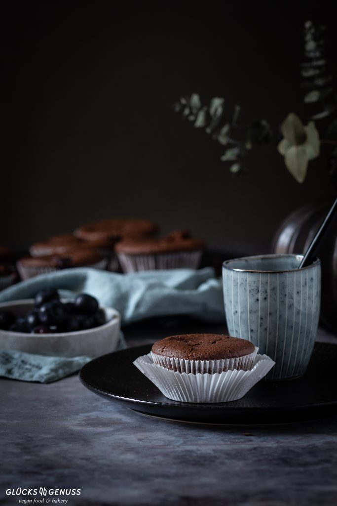 Schokoladen-Blaubeer-Muffins