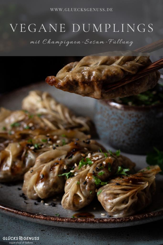 Vegane gefüllte Dumplings