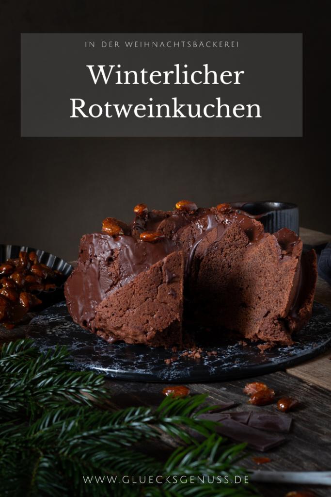 Winterlicher Rotweinkuchen