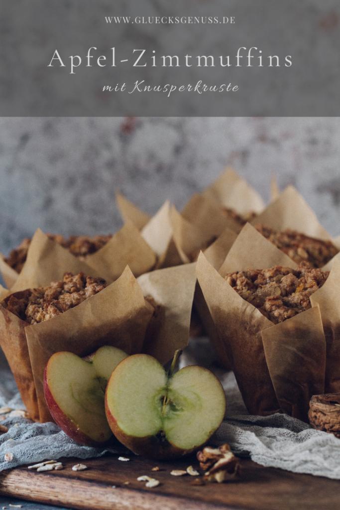 Apfel-Zimt-Knuspermuffins