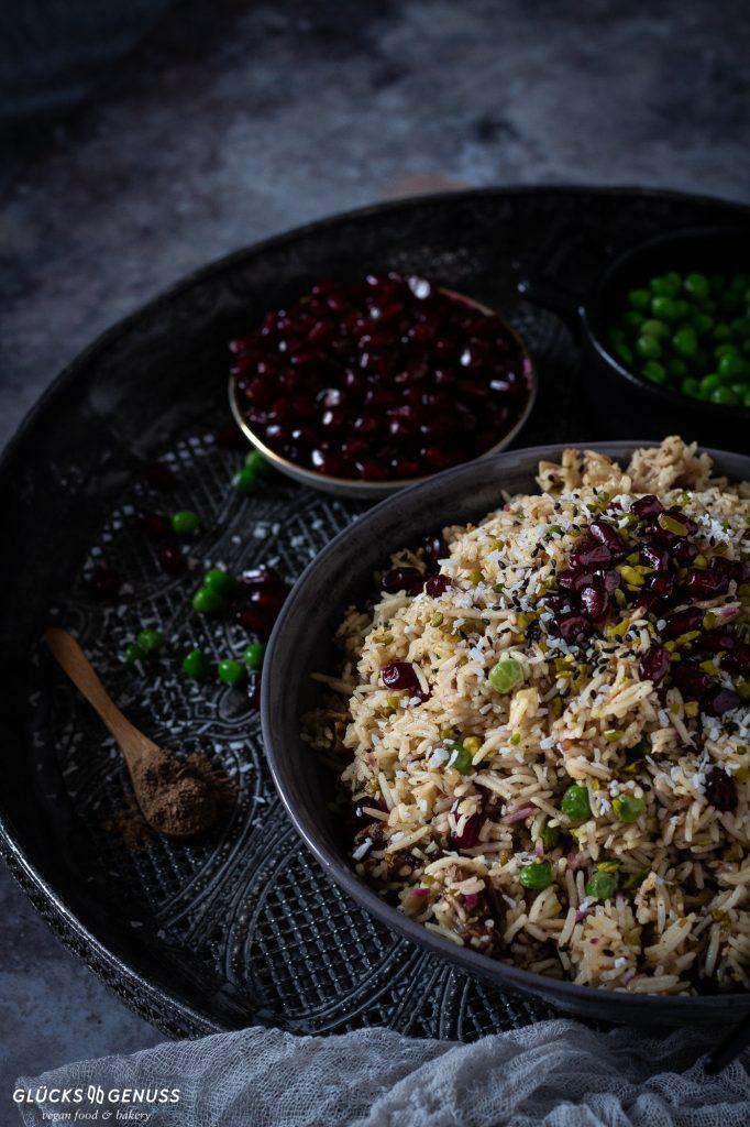 Orientalische Gemüse-Reispfanne Glücksgenuss