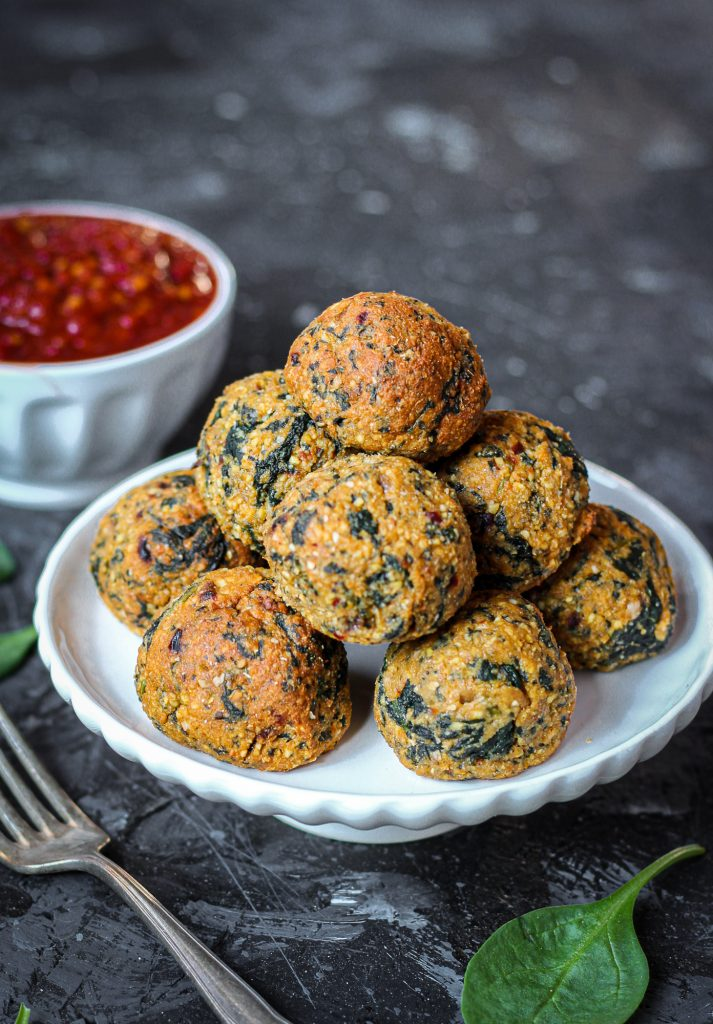 Spinat-Falafel