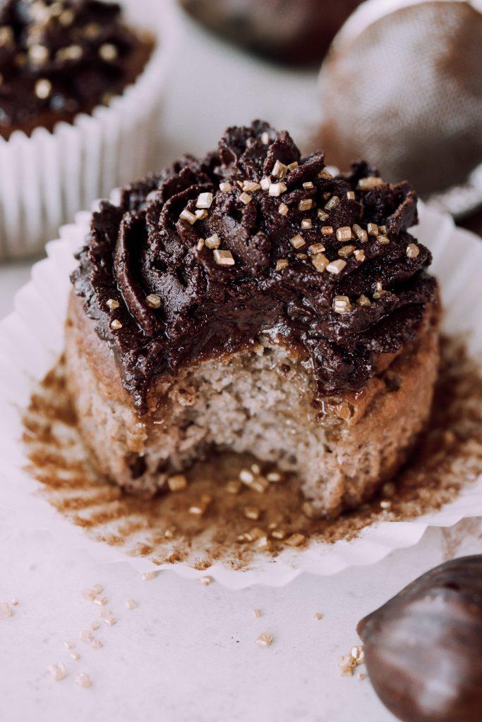 Schokoladige Kastanienmuffins / vegan & glutenfrei