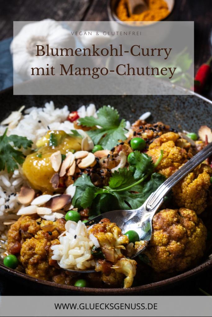 Blumenkohl-Curry mit Mango-Chutney