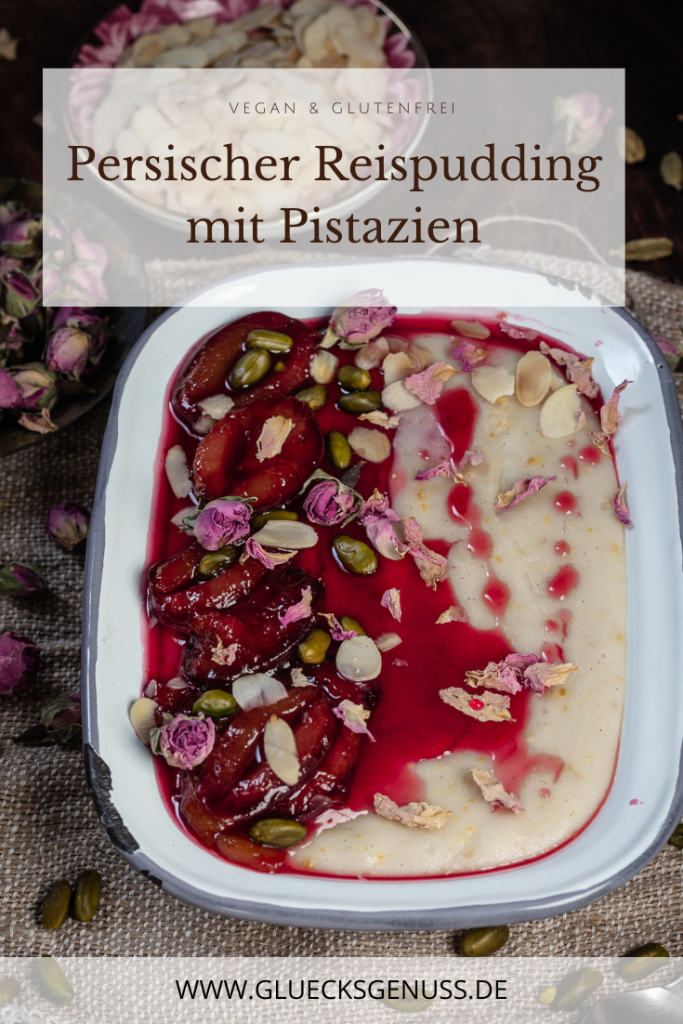 Persischer Reispudding mit Pistazien